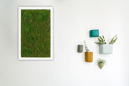 fake moss frame wall decor