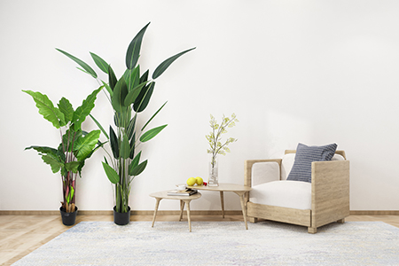 fake potted plants indoor