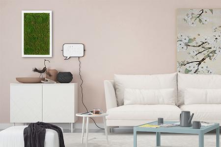 framed artificial moss art indoor