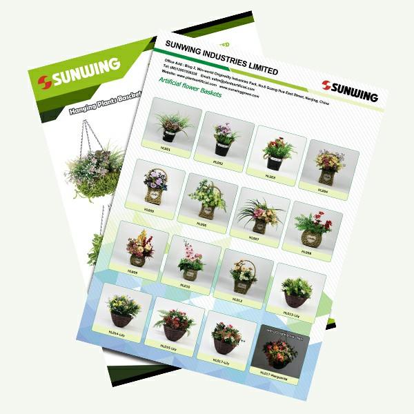 hanging baskets and desktop plants pots