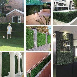 indoor & outdoor artificial hedges projects