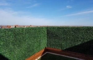 partio faux boxwood in planters