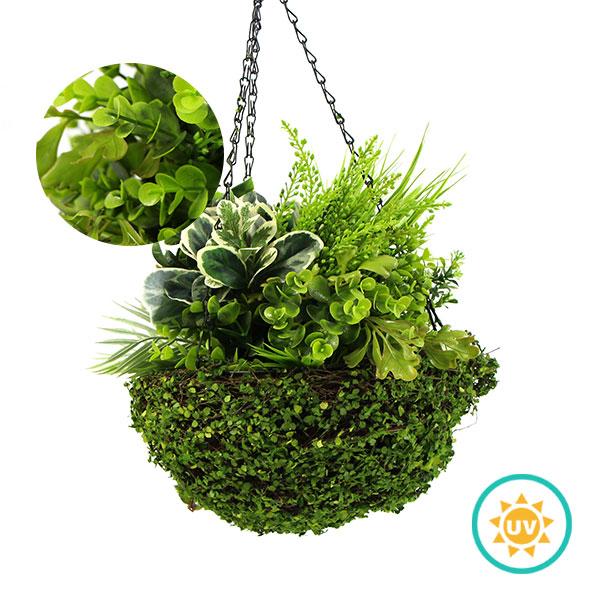 artificial plants hanging basket
