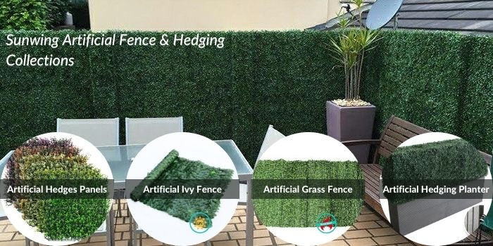 Sunwing artificial fence & hedging collections