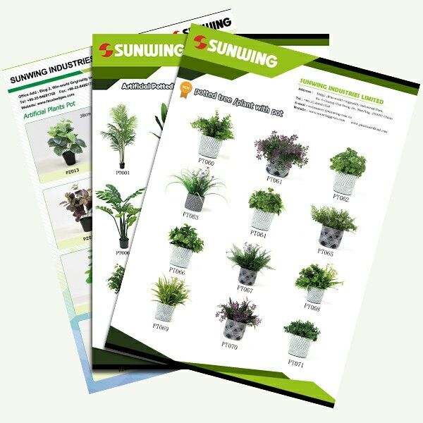 Sunwing artificial potted plants catalog