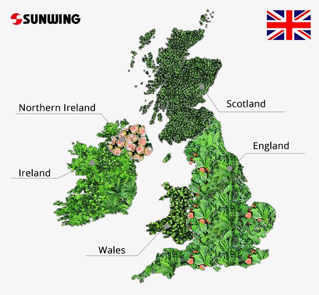 UK import artificial plants