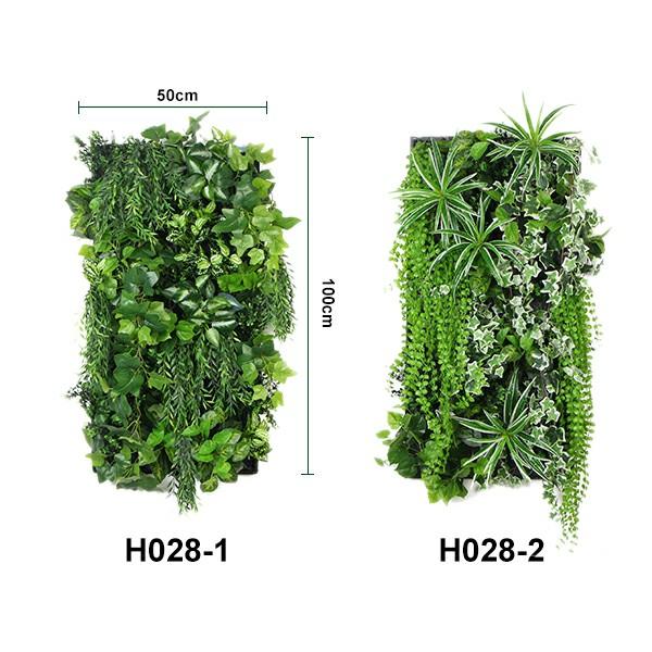 size of artificial garden wall