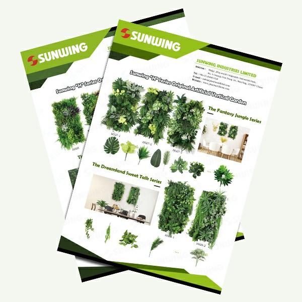 sunwing original artificial green wall panels supplier china