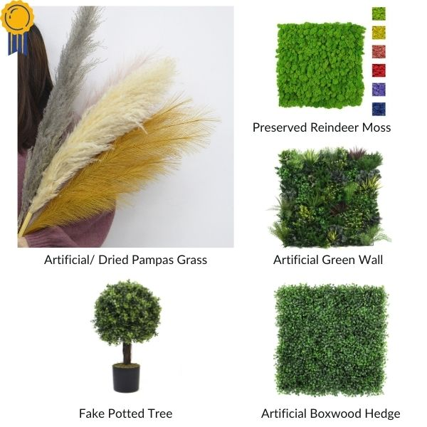 trendy artificial plants stock from Sunwing