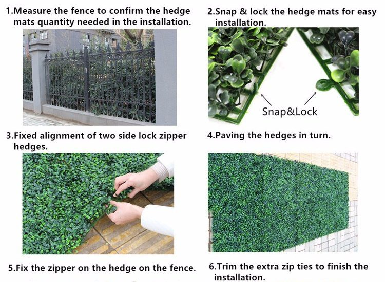 Artificial Hedge Installation Guide