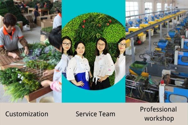 Artificial plants service