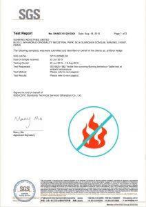 FIRE PROOF artificial hedges certificate
