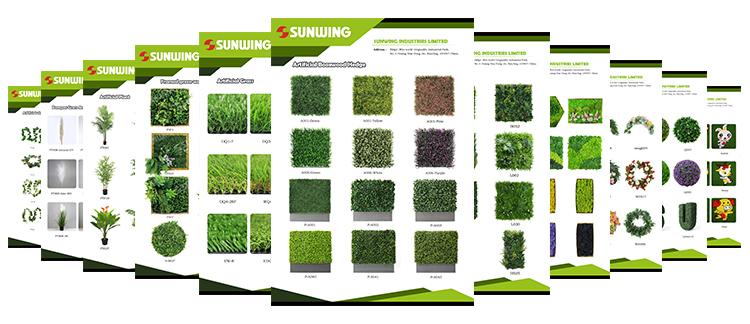 Sunwing artificial plants wholesale catalogs