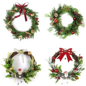artificial christmas wreaths for outdoors