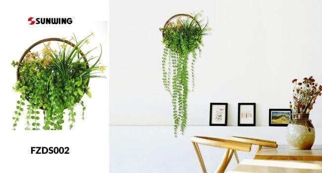 artificial hoop wreath