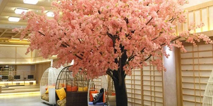 indoor large artificial trees for decor