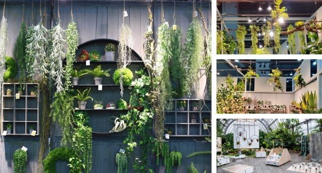 source artificial hanging plants in china